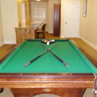 Billiards Table in the Lower Floor Recreation Room