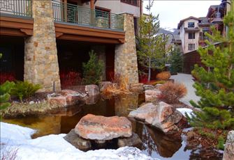 Pond Waterfeature is Part of the Appealing Landscaping