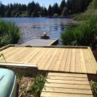 Short Walkway to the Water Where you Will Find Two Floating Docks (one that you Can Even Take out!) Electric Motor with Battery on Site