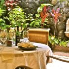 Dine by Water Feature.  we Provide everything you Need for Fine Dining