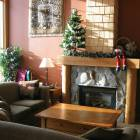 Living Room with Gas Fireplace.