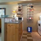 Kitchen - Lots of Extra Storage on Shelves.  everything you Would Need to Prepare Great Meals!  Crock Pot Included! no Need to Eat out!