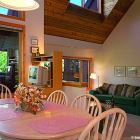 Dining Room Seats 6 plus 3 Stools at Breakfast Bar