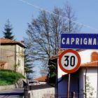 The Entrance to the Village of Caprignana Where the Villa is the Largest Home.