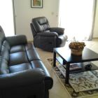 Sunny Living Room, 2 Patio Doors Access to Front Rock Garden