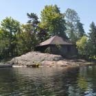 100 Yr Old Log Cabin is a Queen Sleeper on the North (Smaller Island) Ultimate Privacy