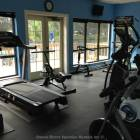 Full Work out Gym Overlooking the Pool.