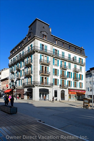 Centre of Chamonix town