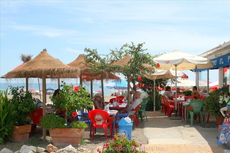 Many restaurants within the beach area
