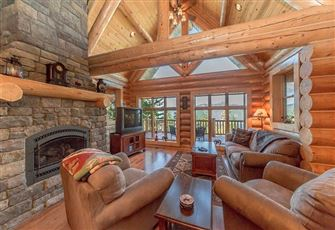 Custom Log Home Perched