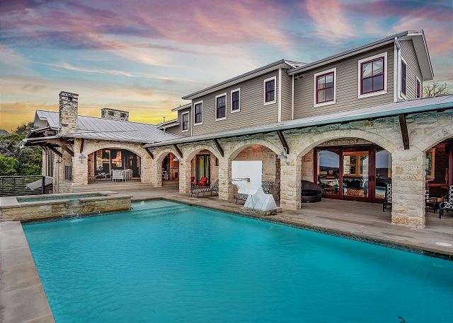 Luxury, fun, and spectacular views await you from this beautiful estate minutes from downtown Austin
