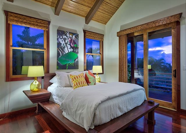Luxury bedroom with magnificent views