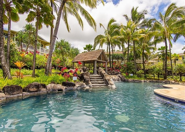 Gorgeous two-story, 3-bedroom, 2-1/2 bath, 1,875 square-foot town home in Princeville, HI #221418