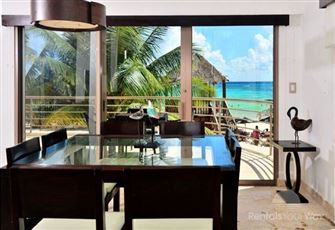Spacious Beachfront Condo in