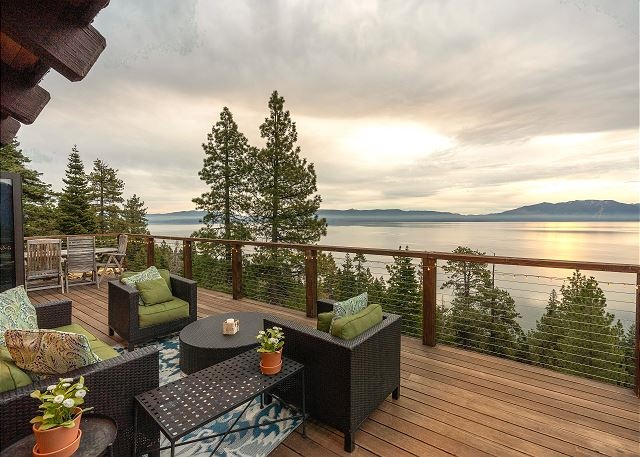 5 bedroom/4 bath cabin offers 180 degree views of Lake Tahoe. #229356