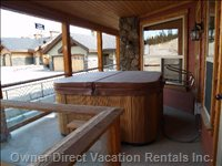 6 Person Hot Tub on Large Deck.