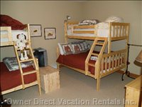 Large Den with 2 Double/Single Bunks, TV, DVD.