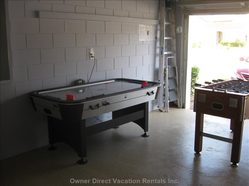 Games Room in the Garage