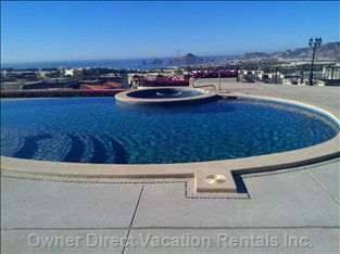 Sip a Cool Drink Or Relax those Tired Muscles in the Hot Tub, While Enjoying the Spectacular View.