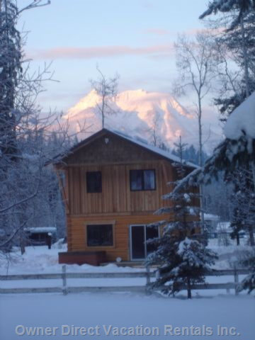 Winter Sunrise at Lodge, Kicking Horse