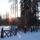Winter Sunset at Lodge, Kicking Horse