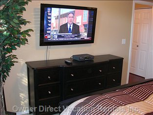 Master Bedroom with Big Screen TV
