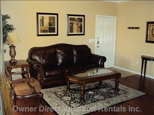 Furnished Living Room with Coffee Table