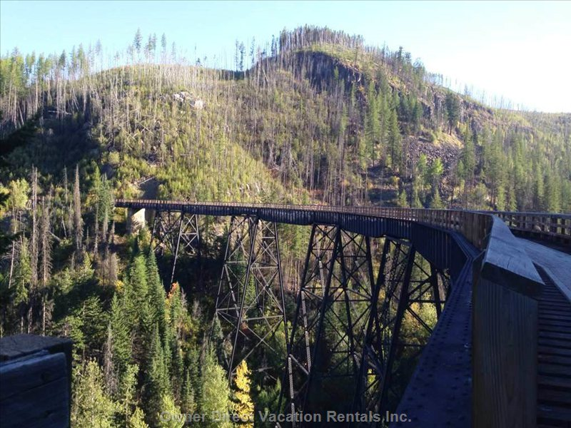 Trestles for a Great Walk Or Bike Ride. Kelowna Trestles are a well Known Attraction among Locals and Tourists.