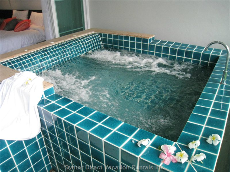 Slip into the Jacuzzi on your Private Terrace - Similar to but May Not be Exact Unit.