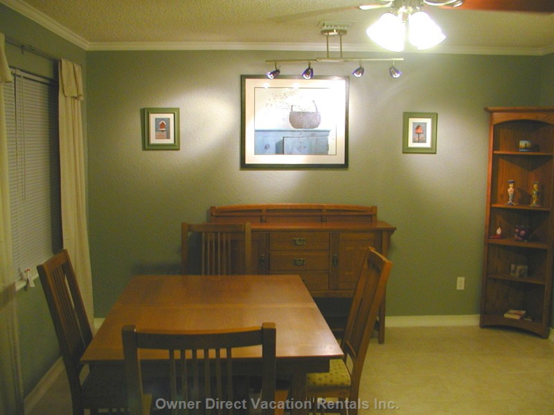 Dining Room with Additional Breakfast Nook and Pass-through to Kitchen