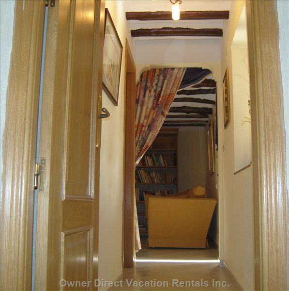 Passageway Leading to Study/Library,Family Bathroom and Two Guest Bedrooms.