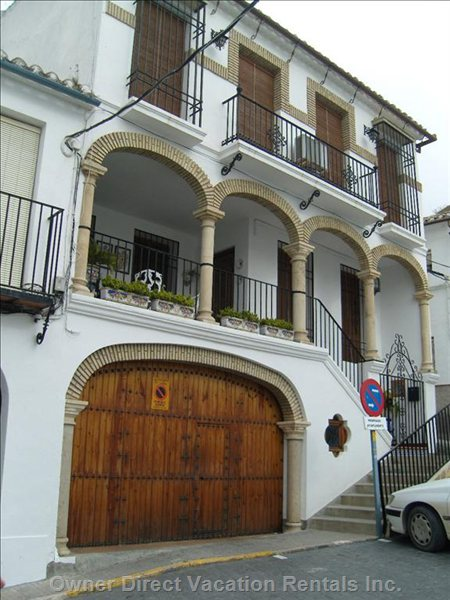 Iznajar Town - another Property Showing the Moorish Architecture of Arches Used Throughout Spain in Present Designed Buildings.