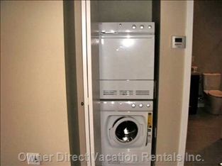 Energy Efficient Washer and Dryer in the Unit