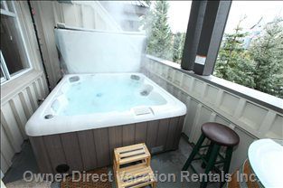 Hot Tub on Top Deck with Views of both Whistler & Blackcomb Mountains - the Best Way to End any Day in Whistler!