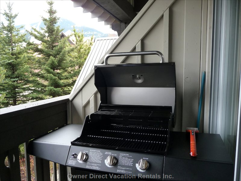 New Barbecue on Deck of the Living Room/Kitchen Level