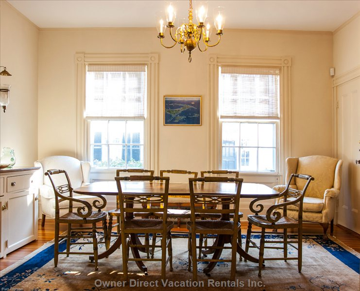 Formal Dining Room Next to the Front Kitchen is one of Two Dining Rooms.