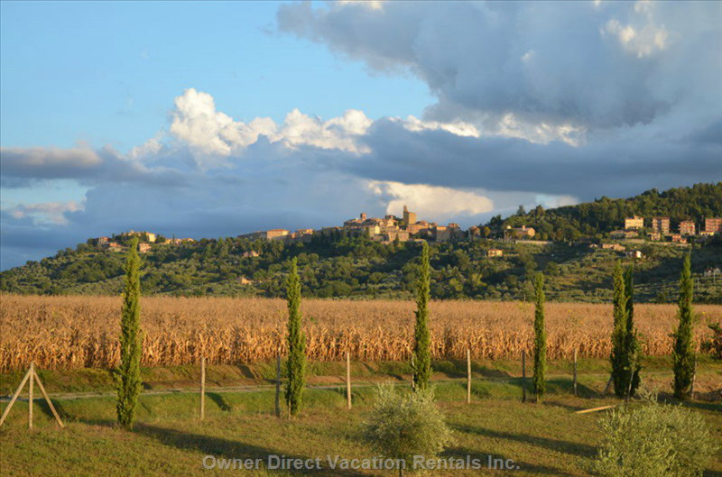 View from the Apartment upon Panicale Hills