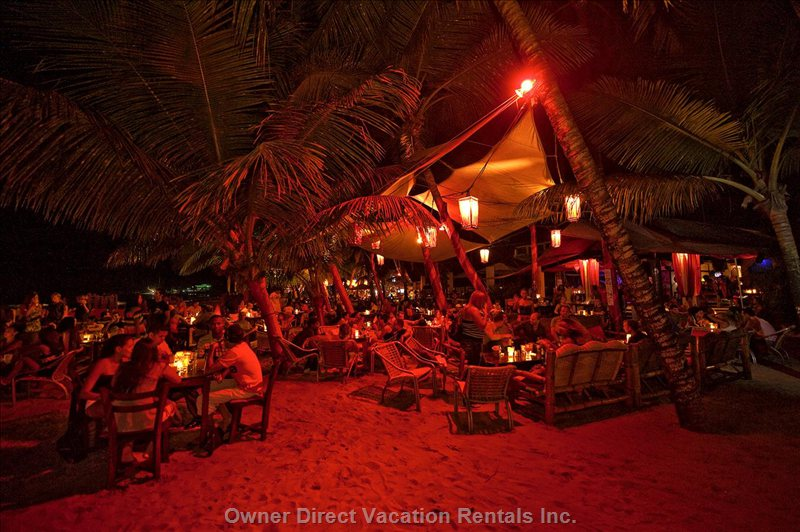 In the Evening Cabarete Offers many Restaurants Right on the Beach....