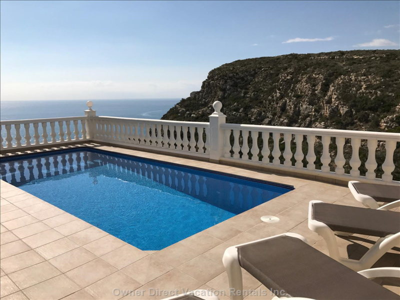 Across your Private Heated Pool to the Med