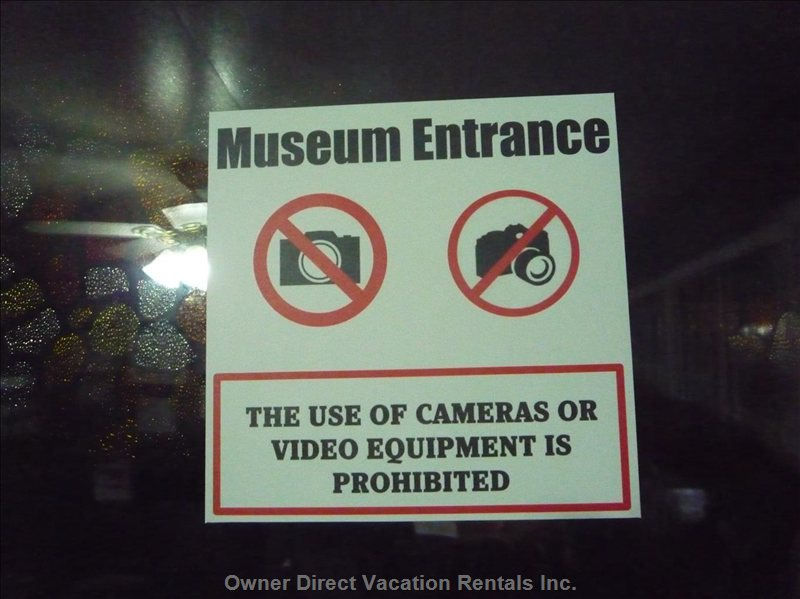 Museum Warning Sign