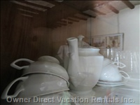 Cups and Tea Pot in the Old Sideboard
