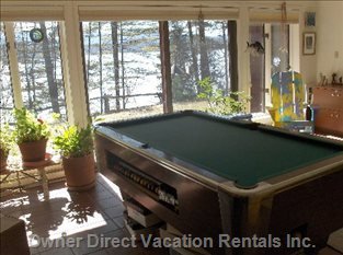 Pool Table in TV / Recreation Room
