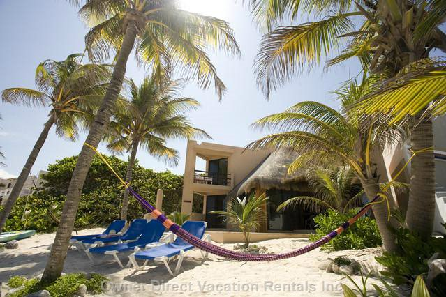 Beach View of Villa - Swing Lazily on the Hammock under the Palms