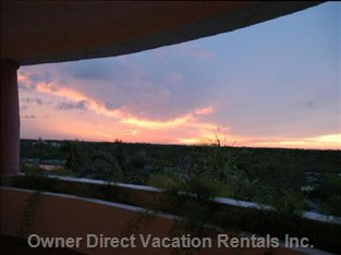 Sunset from the Verandah