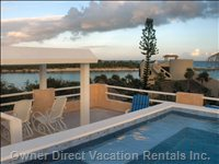 Heated Rooftop Pool - Great Views of the Lagoon and Ocean