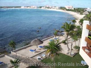 Photo Taken from Condo, Showing Beach, Water Entry and View