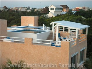 Rooftop with Private Heated Pool