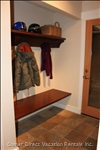 An Alcove in the Main Entry with Built-in Bench, Shelf and Coat Rack. The Radiant Heated Floors Quickly Dry any Melting Snow Or Water!
