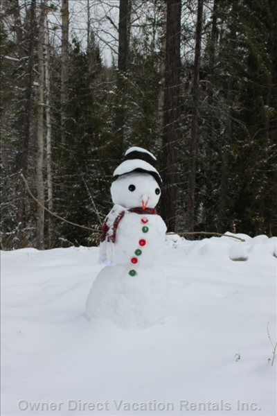The Perfect Snowman. - the Kids Made a Snowman for Remembrance Day. Lets Hope he Lasts until Spring!