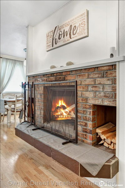 Log Fireplace